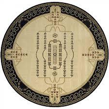 Black Circle Rug Momeni Nouveau Ivory Black Contemporary Round Rug Nv 09ivy Rd