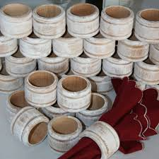 how to set a table with napkin rings 25 rustic wood napkin ring holder wedding napkin rings white
