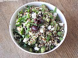 meatless monday greek style tri color quinoa salad