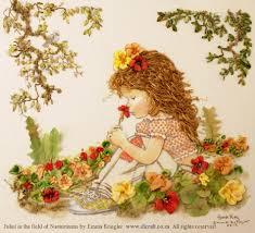 ribbon embroidery flower garden sarah kay designs for silk ribbon embroidery di van niekerk