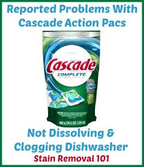 Dishwasher Not Using Soap Problems With Cascade Action Pacs Dishwasher Detergent