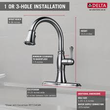 How To Install Kitchen Faucet by Delta Faucet 9197 Ar Dst Cassidy Arctic Stainless Pullout Spray