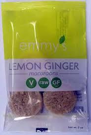 emmy u0027s organics lemon ginger gluten free macaroons gluten free