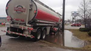 Fuel Truck Driver Bad Luck For Driver Transport Truck Loaded With Fuel In Ditch