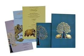 wedding card blessings elephant and tree theme wedding card design gc 1052