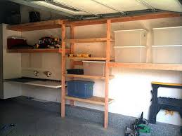 building garage shelves building with wood shelves in garage wood
