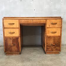 vintage wood desk vintage mid century burl wood desk u2013 urbanamericana