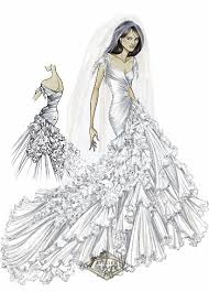 design a wedding dress elizabeth hurley wears wedding dress in a sketch provided by