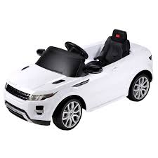 bentley white and black range rover evoque 12v licensed ride on car