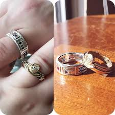 wars wedding bands a friends custom r2 and 3p0 wedding rings starwars