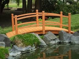 Yard Bridge | cedar garden bridge yard accents