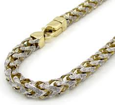 gold tone tennis bracelet images 10k yellow gold two tone fully iced diamond franco bracelet 9 inch jpg