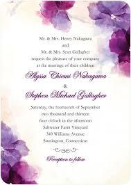 soft bougainvillea watercolor design wedding invitations in purple