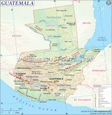 Physical Map Of The United States by Guatemala Map Map Of Guatemala