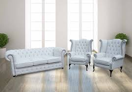White Leather Chesterfield Sofa Buy White Leather Chesterfield Sofa Matching Chairs