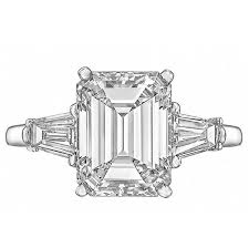 cartier engagement rings cartier 3 06 carat emerald cut engagement ring at 1stdibs