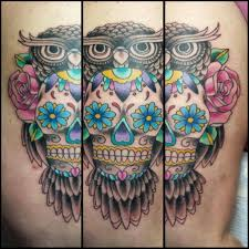 owl sugar skull on we it