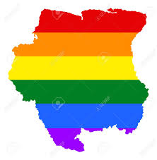 Pride Flag Colors Suriname Pride Map With Rainbow Flag Colors South America