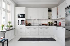 White And Black Kitchen Designs White Kitchen Cabinets With White Appliances Tips And Photo