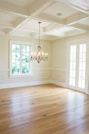 Dining Room Trim Ideas Elegant Look Applied Moulding For Wainscot Coffered Ceiling