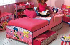Toddler Minnie Mouse Bed Set Tinkerbell Toddler Bed Set Cube Brown Elegant Rack Furniture Toys
