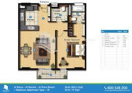 floor plan of al barza al raha beach
