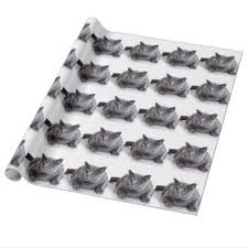 cat wrapping paper zazzle co uk
