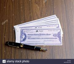 travellers cheques images Travellers cheques stock photo 60949825 alamy jpg
