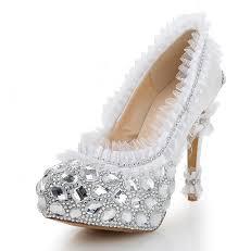 wedding shoes luxury white wedding shoes princess flower lace wedding shoes