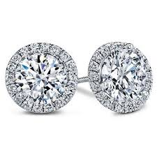 diamond earring jackets diamond halo earring jacket e5157