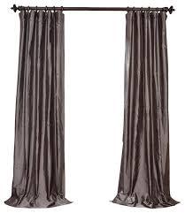 Steel Grey Curtains Exclusive Fabrics Furnishings Steel Gray Dupioni Silk Curtain