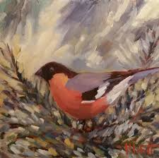 heidi malott original paintings tree bird ornament