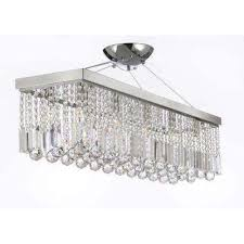 Best Way To Clean Chandelier Crystals Crystal Chandeliers Hanging Lights The Home Depot