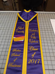 personalized graduation stoles items similar to graduation stoles slanted custom made stoles