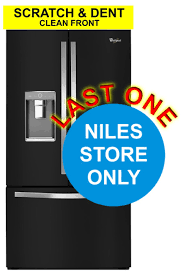 Whirlpool Black French Door Refrigerator - whirlpool scratch and dent clean front 32 cf black french door