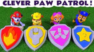 paw patrol play doh stop motion badges logos thomas