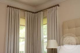 window treatments with two windows in a corner drapery styles living spaces