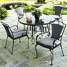 wrought iron outdoor dining table great cast iron patio furniture