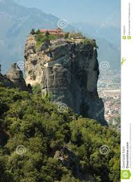 Meteora Greece Map by Holy Trinity Rock Monastery Meteora Greece Royalty Free Stock