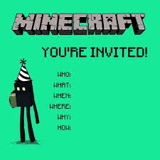 best 25 minecraft invitations ideas on pinterest minecraft