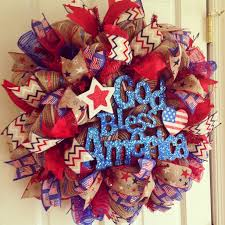 4th of july wreaths the unique collection of 4th of july burlap wreath