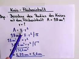 kreisfläche rechner kreis radius berechnen beispielaufgabe
