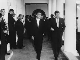 Jfk S Son 28 Aug 1961 Sargent Shriver Director Of The Peace Corps Center