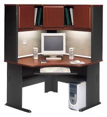 bush series a desk bush series a 48 corner computer desk with hutch in hansen cherry