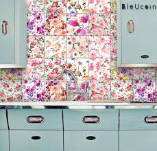 english rose kitchen bathroom backsplash tile wall decal
