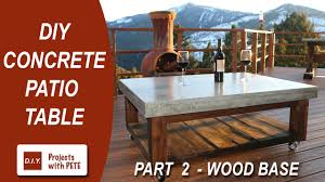 How To Make Homemade Concrete by Part 2 How To Make A Concrete Coffee Table For The Patio Wood