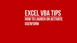 vba launch or activate userform from excel worksheet youtube