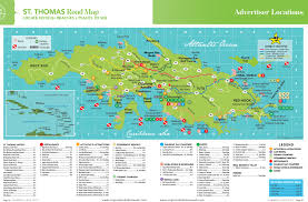 Map Of Caribbean Island by St Thomas Island Road Map St Thomas Maps St Thomas St