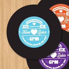 Personalized Record Album Vinyl Record Label Wedding Invitation Diy Set Printable 15 00