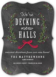 decking the new halls 5x7 moving announcement card by